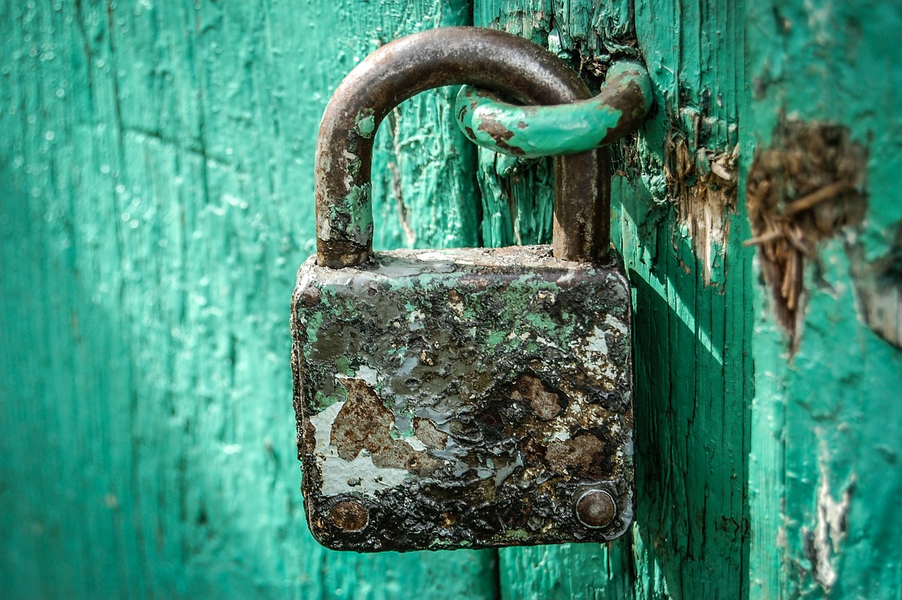 padlock, locked, secured