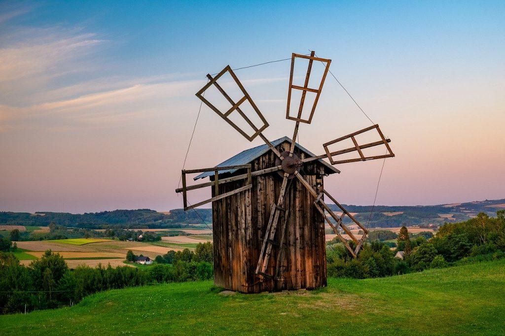 windmill, rural, old windmill
